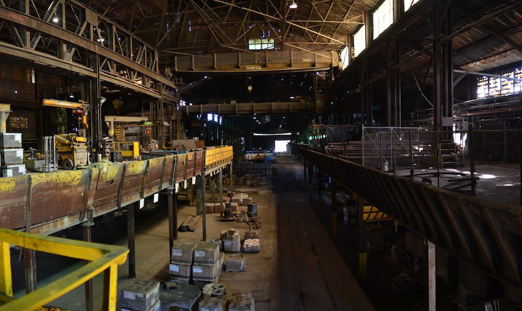 Multi-storied factory with equipment